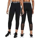Nike W NP 365 Tight Crop Leggings, Black/White, S Donna