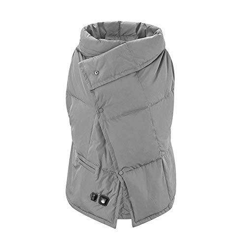 Best Buy! YXIUER Electric Heating Wrap Blanket Vest Body Warm Down Vest USB Charging Fast Heating Th...