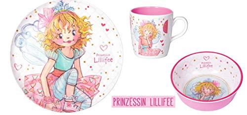 Die Spiegelburg Melamin-Geschirr Prinzessin Lillifee (Zauberhafte Welt) - 3tlg.