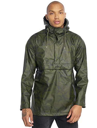 Helly Hansen Anorak imperméable à capuche pour homme, motif camouflage forêt, taille S