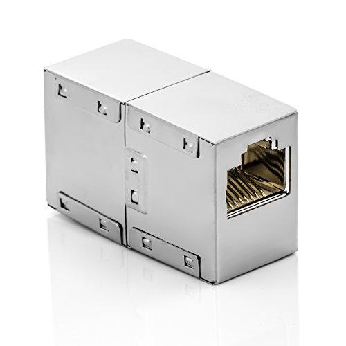 deleyCON CAT6 RJ45 Kupplung Verbinder Netzwerkkabel Patchkabel Ethernetkabel Adapter Modular Geschirmt 2X RJ45 Buchse DSL LAN RJ45 1 Stück