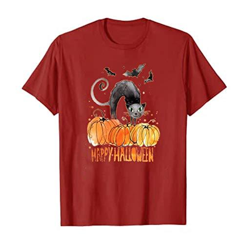 Halloween Pumpkin Shirts Women Thanksgiving T-Shirts Funny Cute Graphic Tee Fall Gift Short Sleeve Tops Shirts Blouse