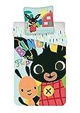 Bing & Flop Biancheria da Letto per Bambini - Copripiumino per Lettino 100 x 135 + 40 x 60 cm, in cotone