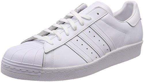 adidas Herren Superstar 80s Sneaker - Mehrfarbig (Lauf Weiß Ftw / Lauf Weiß Ftw / Core Schwarz) , 36 EU
