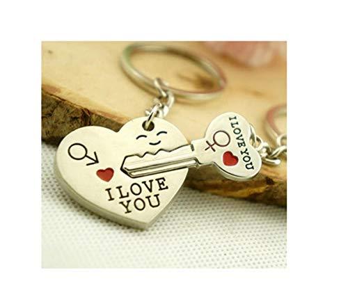 Familienkalender Schlüssel zum Herzen I Love You Schlüsselanhänger Schlüsselring für Paare / Geliebte im Set | Glück | Geschenk | Jahrestag | Hochzeit | Liebe