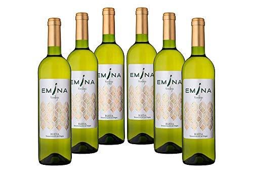EMINA vino blanco Verdejo (D.O. Rueda). 6 Uds. de 75 cl. cada una