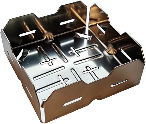 Kamin-Anzündkorb: Der Turbo-Pelletkorb für Ihren Kaminofen. Anzünden mit Holzpellets statt Anzündholz. Mit Stapelhilfe. Generation 4.0 (1 Stück)