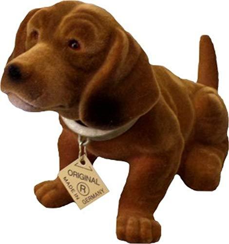 Rakso Oskar Schneider GmbH & Co. KG Der Original Wackelhund Dackel klein, Länge 19cm, Höhe 10cm,Braun