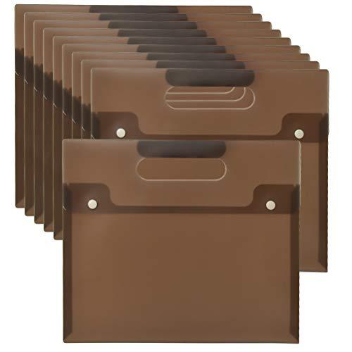 YOTINO 10 Pcs Carpetas Para Archivo A4,Carpeta Transparente/Extensible Impermeable,Banda Elástica, Plastico Dossieres Documentos Almacenamiento,para Certificados, Oficina y Escolar ,Recibos,