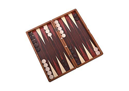 Master Games T76-Backgammon-Tavla -Magnetverschluss-Big Size 48x24x6,00 cm (Zertifiziert von SEDEX, SGS, INTERTEK)