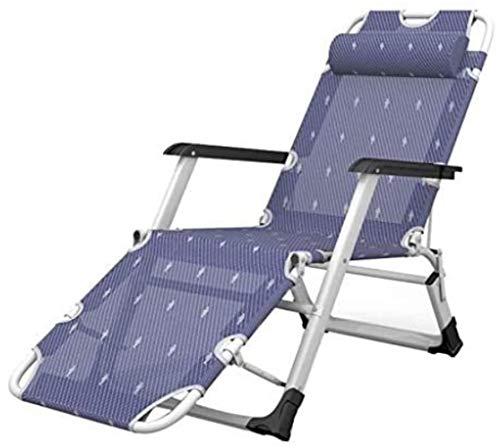 Chaise Transats Recliners Patio Longue de Jardin Fauteuil inclinable extérieur Pliant Portable Berceuse Soutien 440lbs
