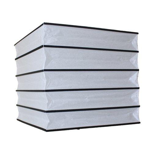 6920B Papier-Lampenschirm für Deckenleuchte, 30cm, quadratisch, schwarz und weiß