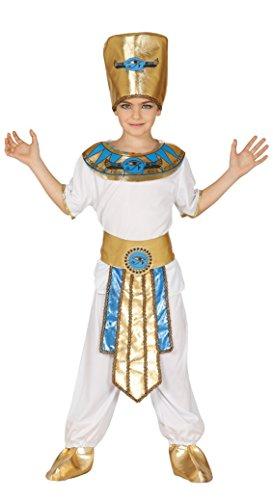 Guirca-83367 Costume da Faraone, per Bambini, Taglia 10 – 12 Anni 10/12, Bianco e Oro, Talla 10-12 años, 83367.0