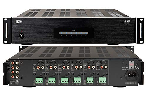 OSD Audio 6 Zone 12-Channel Digital Amplifier, 80W/Channel, Distributed Audio & Home Theater - MX1280