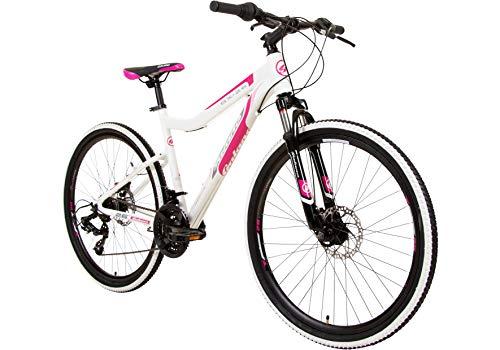 Galano GX-26 26 Zoll Damen/Jungen Mountainbike Hardtail MTB (Weiss/pink, 38cm)