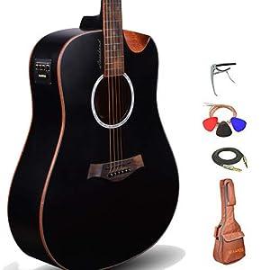Kadence Slowhand Premium Jumbo Semi Acoustic Guitar 4