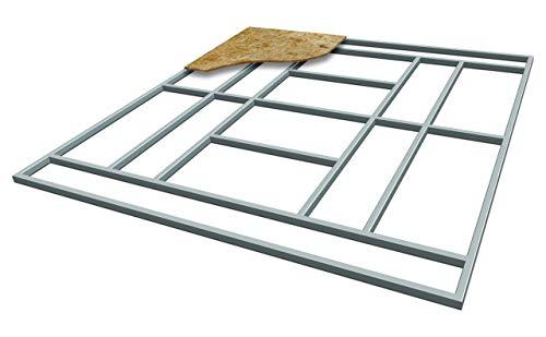 taddei Supporto per Pavimento Box Casetta da Esterno 251x171 cm in Ferro Pert