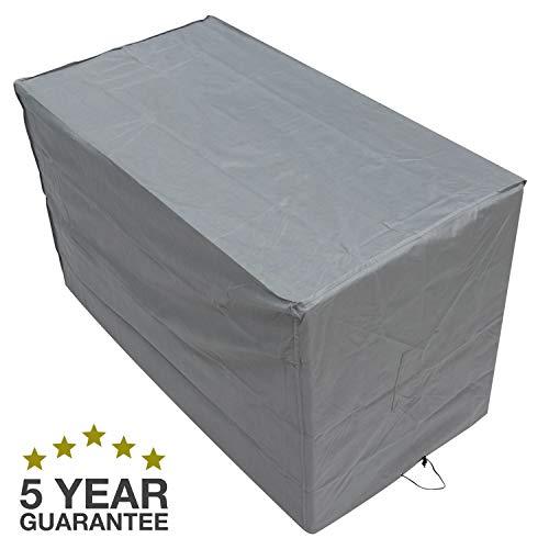 Oxbridge Grey Small Bistro Outdoor Garden Patio Furniture Set Cover 1.52m x 0.82m x 0.92m/5ft x 2.7ft x 3ft, 5 YEAR GUARANTEE
