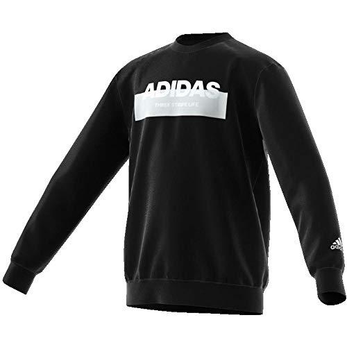 adidas Lineage Crewneck Sweater, Felpa Bambino, Nero, 13-14A