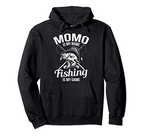Momo Is My Name Fishing Gift Felpa con Cappuccio