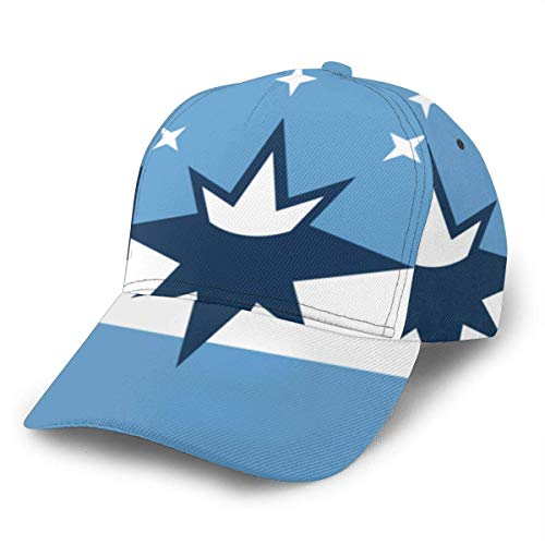 1Group Designs Gorra de béisbol ajustable con bandera de la ciudad de Springfield, para mujeres, hombres, color negro