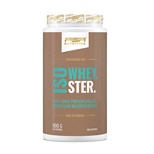 Whey Protein Isolat Eiweißpulver - Low Carb Proteinpulver - zum Backen geeignet - Made in Germany - FSA Nutrition - 900 g - Neutral