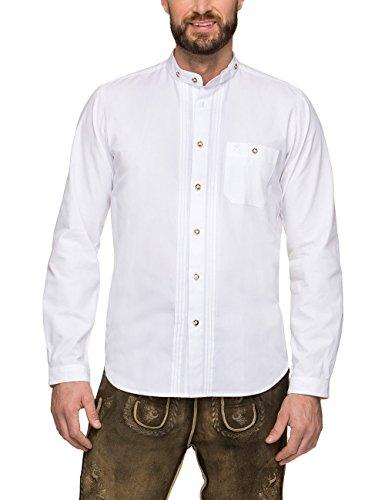 Stockerpoint Herren Leon Trachtenhemd, Weiß (Weiß), Large