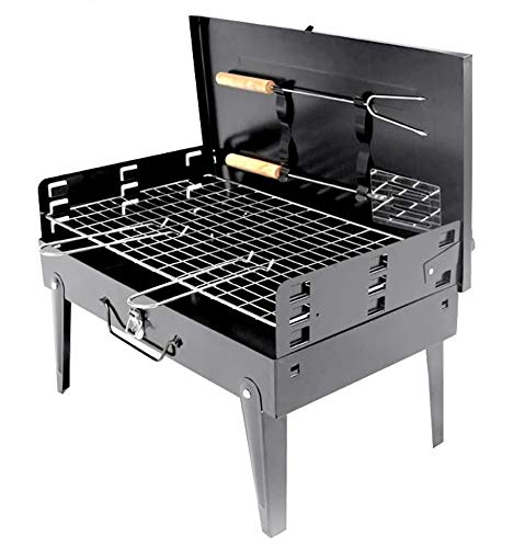 Laelr Portable BBQ Grill, Folding Charcoal Barbecue Grill Rack, Barbecue Fire Pit Stainless Steel Charcoal Grill Smoker Grill Racks For Outdoor, Travel, Picnic, Camping, Garden Summer Party