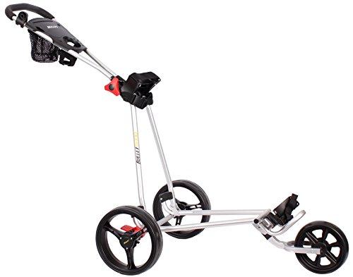 Bullet Golfwagen 5000 Professional, klappbar mit mit leicht-klick-System Silber für Golftaschen/Golfbags