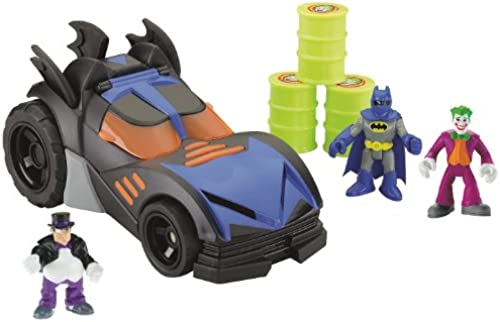 Fisher-Price Imaginext DC Super Friends Batmobile with Bonus Figures by Fisher-Price Imaginext (English Manual)