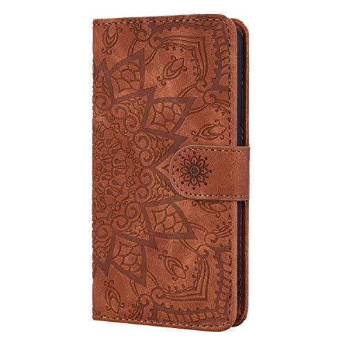 Snow Color Huawei [Mate 20 Pro] Hülle, Premium Leder Tasche Flip Wallet Case [Standfunktion] [Kartenfächern] PU-Leder Schutzhülle Brieftasche Handyhülle für Huawei Mate 20Pro - COHF010326 Braun