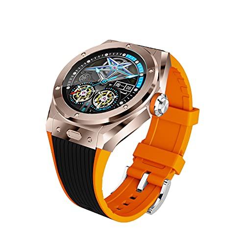 QFSLR Smartwatch, Reloj Inteligente Impermeable IP68 para Hombre Mujer Niños, con Monitor De Frecuencia Cardíaca Monitor De Presión Arterial Control De Música Telefonía Bluetooth,Naranja