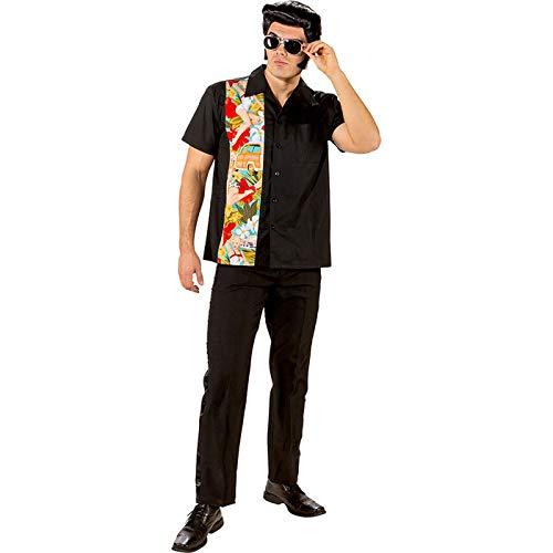 WOOOOZY Herren-Kostüm Bowlinghemd Hawaii, Gr. XL