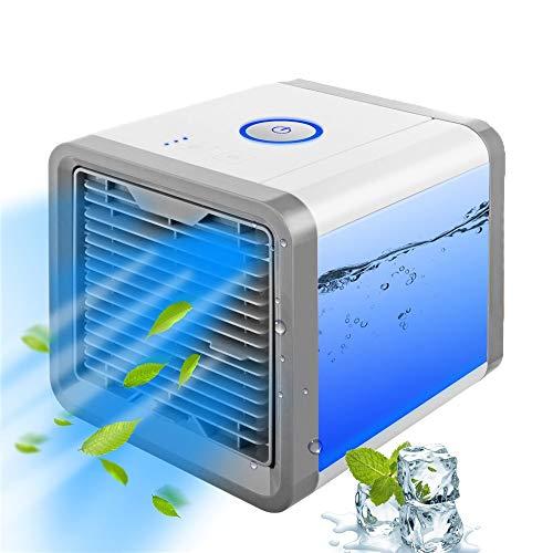 BUY-TO Mini Ventilador de enfriamiento de Aire acondicionador portátil USB humidificador purificador 7 Colores de luz de Escritorio para Sala de Oficina