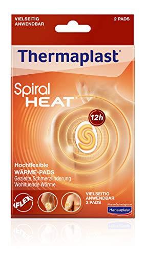 Thermaplast Spiral HEAT Wärmepflaster für flexible Anwendungen, Wärmetherapie bei verspannten und steifen Muskeln, zur gezielten Schmerzlinderung, 1 x 2 Pflaster