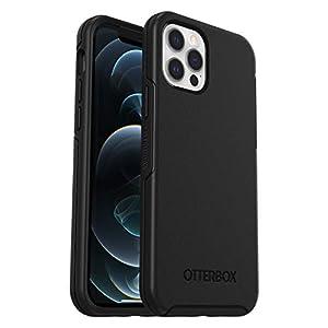 OtterBox Symmetry - elegante und schlanke sturzsichere Schutzhülle für Apple iPhone 12 / 12 Pro, schwarz, 77-65414