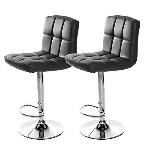 WYZXR Silla de Bar Panana Moderna de 2 Piezas en Base de imitación de Cuero Cromado para el hogar, la Cocina, la Oficina, la cafetería, Las sillas giratorias