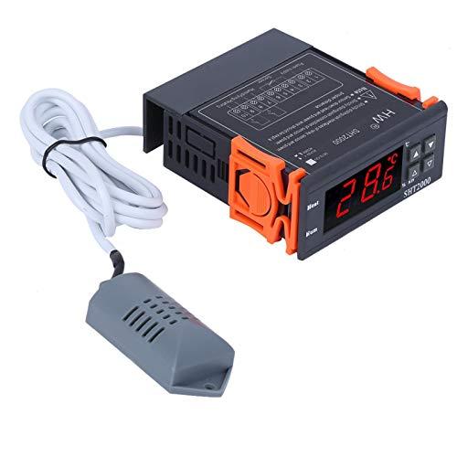 Controlador de temperatura Controlador de humedad Monitor de temperatura y humedad Mini diseño liviano para terrario de reptiles