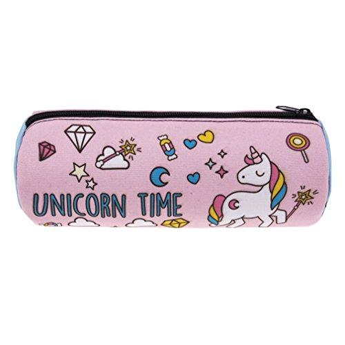 Sacchetto della stampa animale 3D, cassa del telefono di vanità del caso di toilette del cilindro di kfnire unicorn della cassa di toilette, trucco, borsa, sacchetto del sacchetto dei gioielli (A)