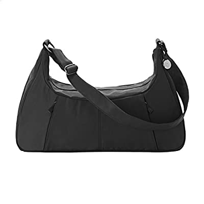 Medela Breastpump Bag for all Breastpumping Essentials, Water Resistant Black Microfiber with Power Adaptor Access Port, Convenient Tote for Sonata, Freestyle, or Pump in Style Advanced Breast Pumps