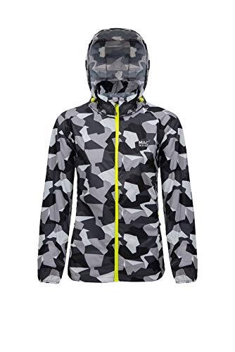 Mac in a Sac® - Veste imperméable Edition - Unisexe - se replie dans Une Pochette - Imprimé Camouflage Blanc - L