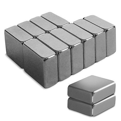 12er Set Neodym Magnete von Master of Boards® | für Glas-Magnetboards Magnettafeln Kühlschränke | stark haftend | 12 Stück Kühlschrankmagnete