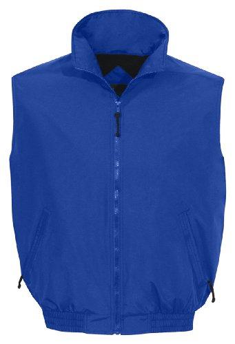 Tri-Mountain 8400 Ridge Rider Windproof/Water Resistant Toughlan Nylon Vest, IMPERIAL BLUE / NAVY, X-Large