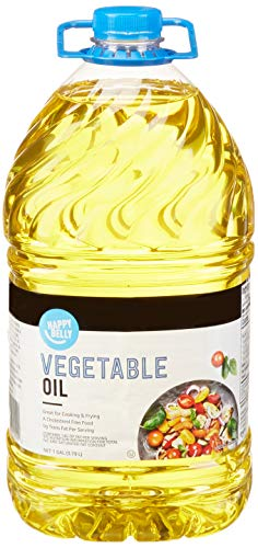Amazon Brand - Happy Belly Vegetable Oil, 1 Gallon (128 floz)