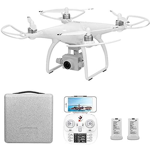 DCLINA GPS Drone 5G WiFi FPVDrone con Fotocamera 4K HD Gimbal a 2 Assi Senza spazzole con modalità Follow Me Headless Mantenimento in altitudine 2 batterie e Custodia per Adulti