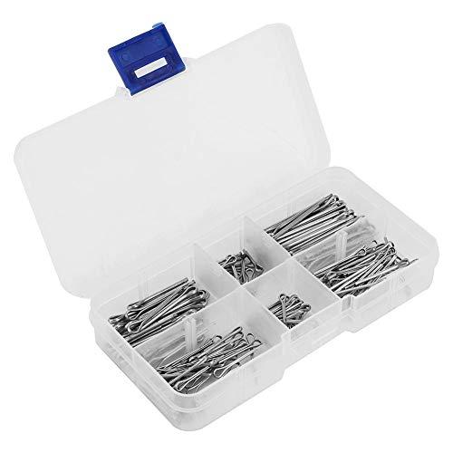 Alupre 175pcs / Set 5 Arten von Zink-Legierung Metall-Split-Splinte Sortiment Kit Fastener Hardware