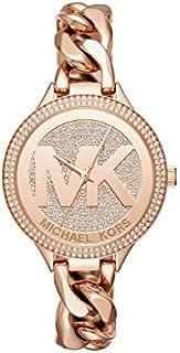 Michael Kors Reloj de 38mm Rose Goldtone Pab = Slim Runway Chain Link para mujer, talla única , Dorado/Rosado