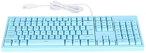KYLL Clavier Filaire Gaming, Keycaps Clavier for Ordinateur PC Portable, Ergonomique Streamline Design 104 Clés Filaire Ergonomique Gaming Keyboard (Color : Blue)