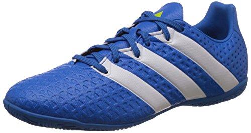 adidas Herren ACE 16.4 IN Fußballschuhe, Blau (Shock Blue/FTWR White/Semi Solar Slime), 43 1/3 EU