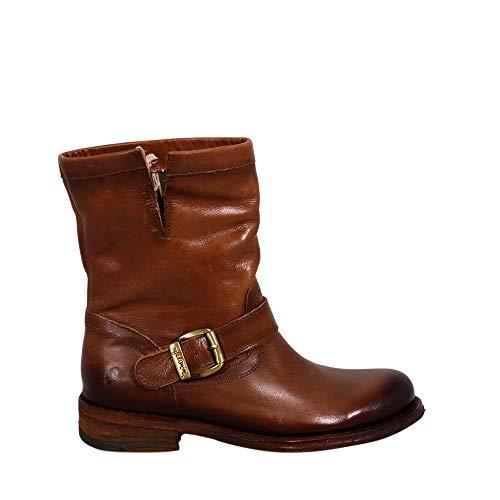 Felmini - Damen Schuhe - Verlieben GREDO 7176 - Cowboy & Biker Stiefel - Echtes Leder - Braun - 39 EU Size